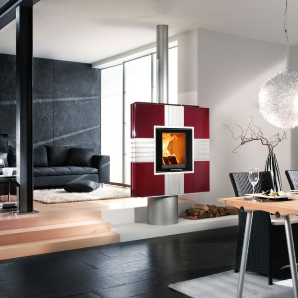 modern tiled stoves gutbrod living area design furniture fireplace