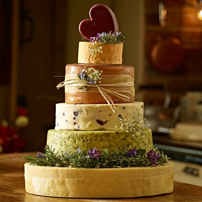 unusual wedding cakes made from cheese