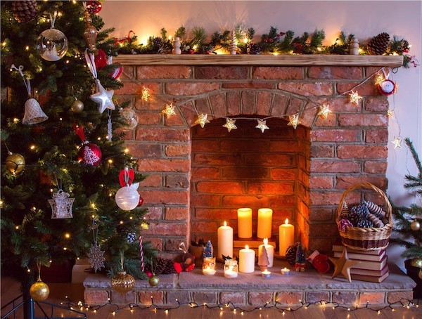 Christmas decorations Fireplace Candles Christmas tree