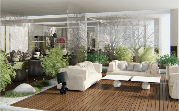 gorgeous modern living room design white couch table plant