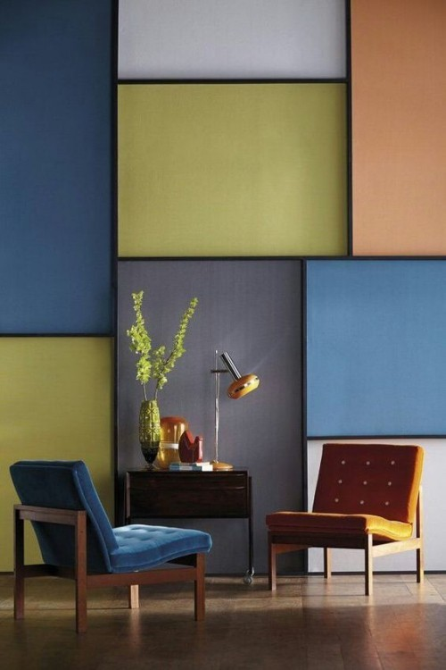 several colored squares wall colors ideas