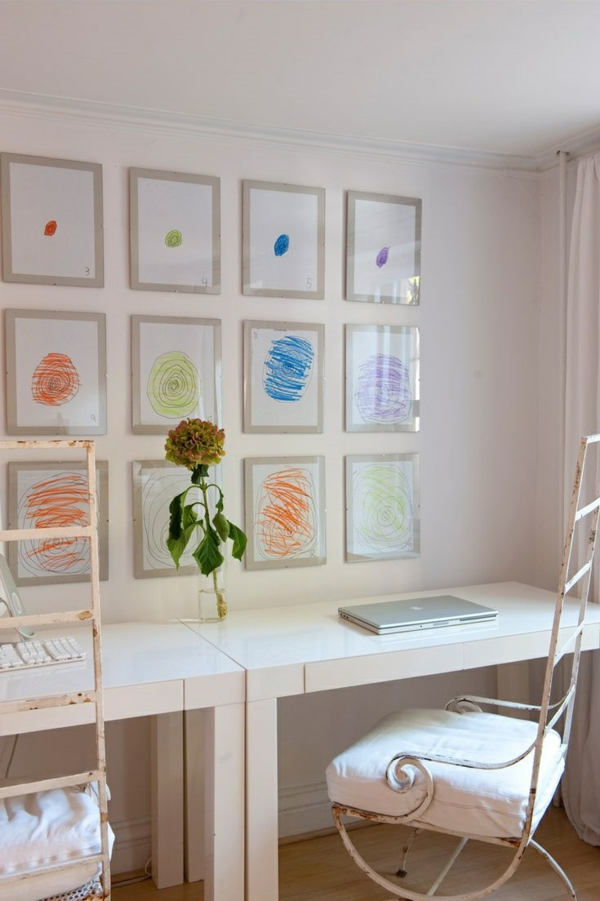 DIY decoration with children's drawings nursery decorate