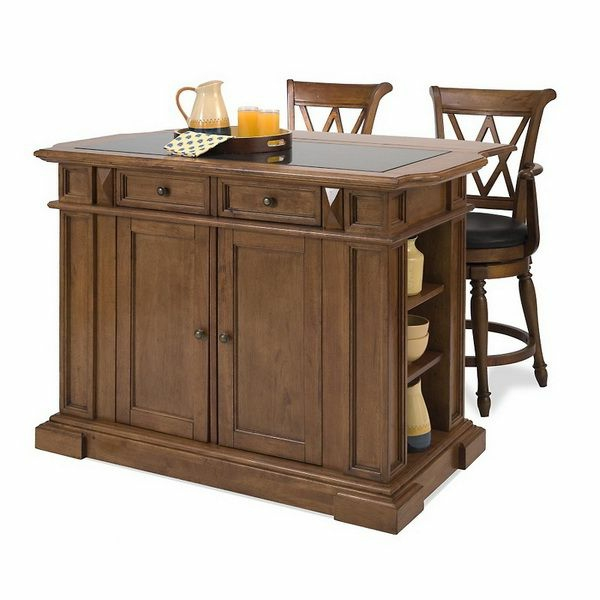 Portable awesome kitchen island wood chair