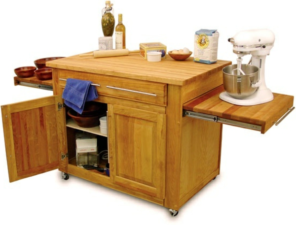 Portable great kitchen islands cooking wood