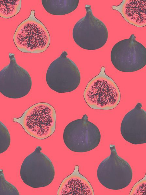 wallpaper pattern fruits red black wall design