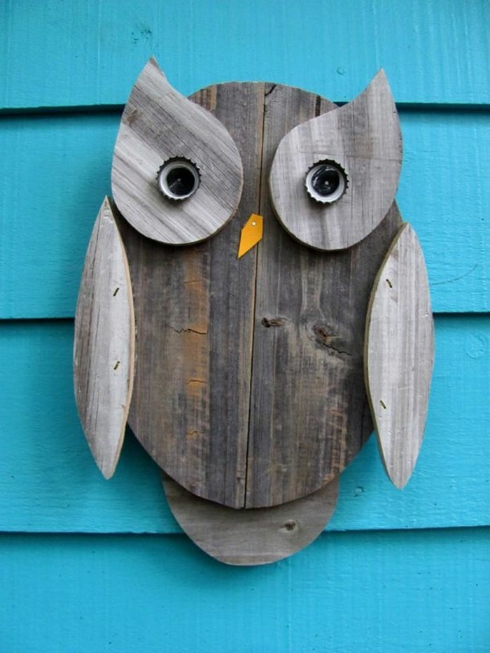 make your own garden owl out of wood