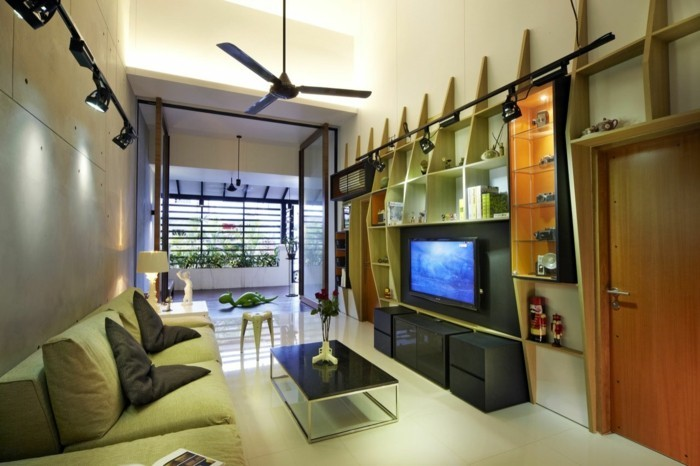 Handy TV wall for the small living room