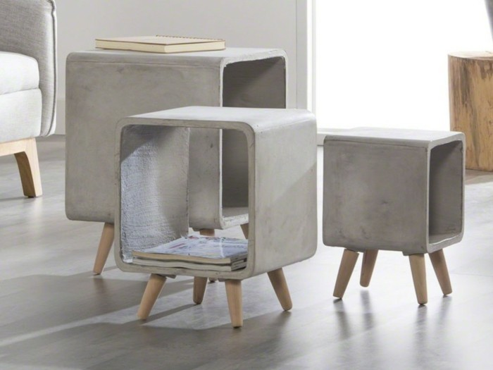 Furniture made of concrete ideas