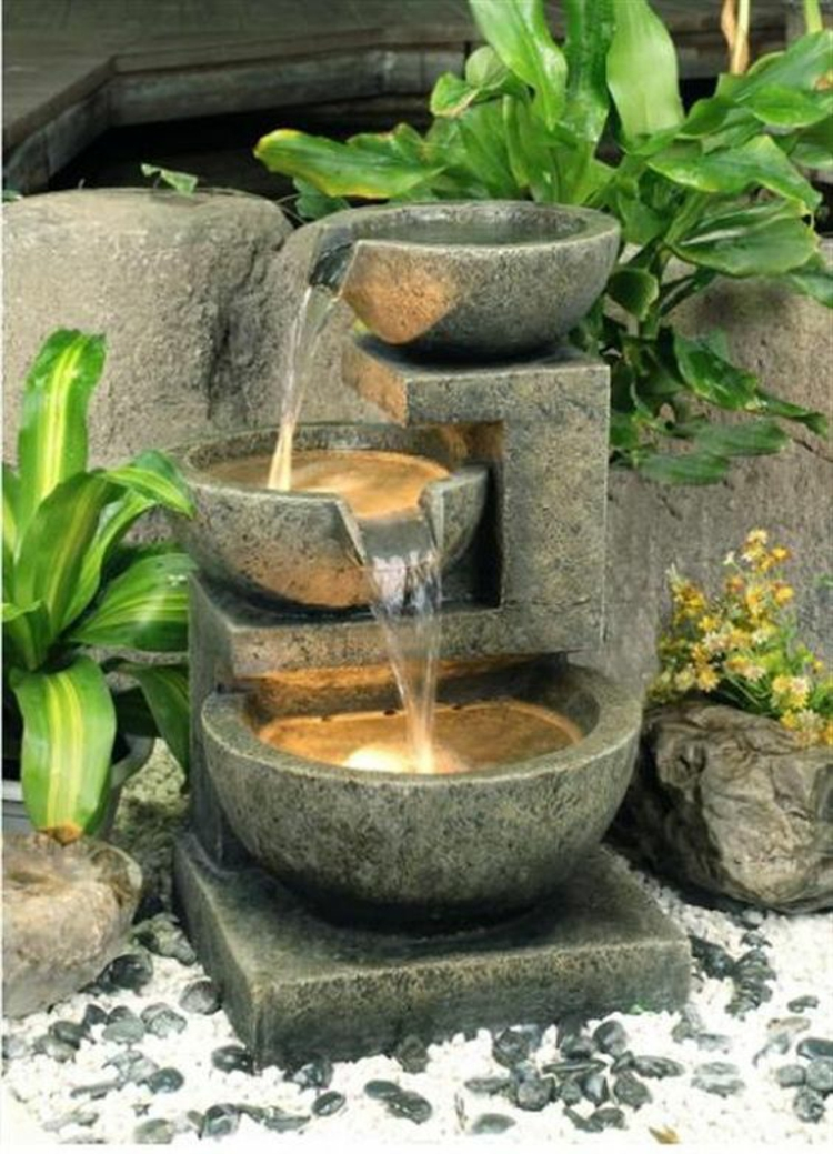 Feng Shui garden water source lucky charm positive energy