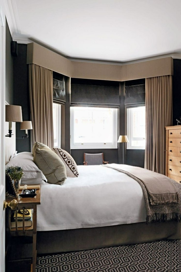 living ideas bedroom privacy with opaque curtains