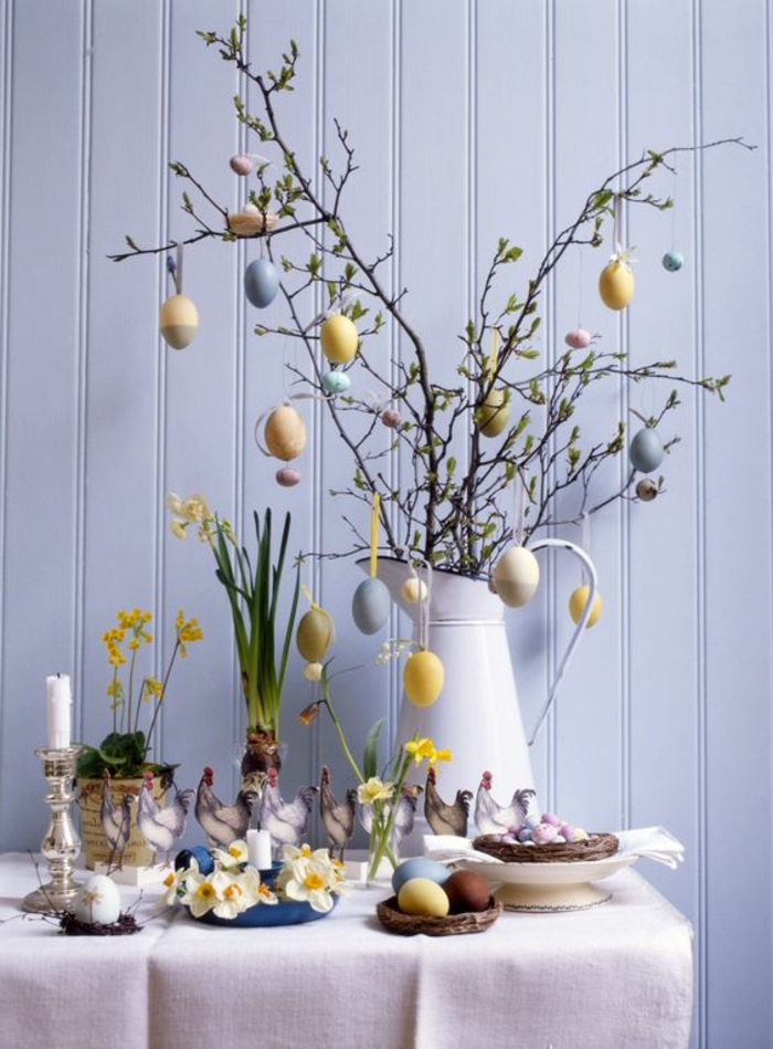 deco ideas easter decoration easter spring flowers candles