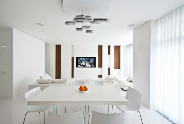 magnificent modern living room design white dining chair