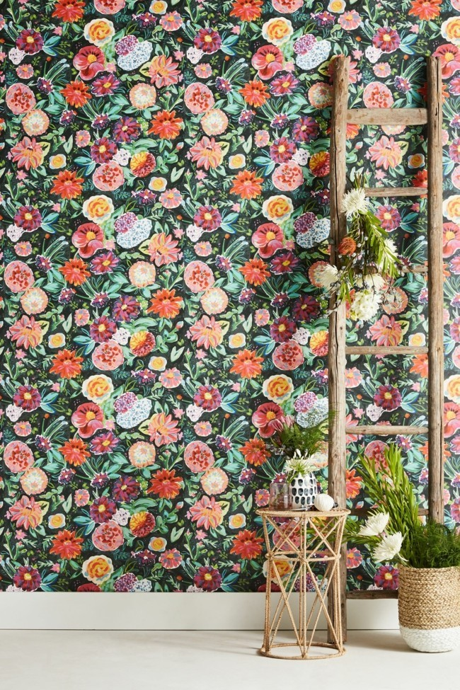 cool floral wallpaper