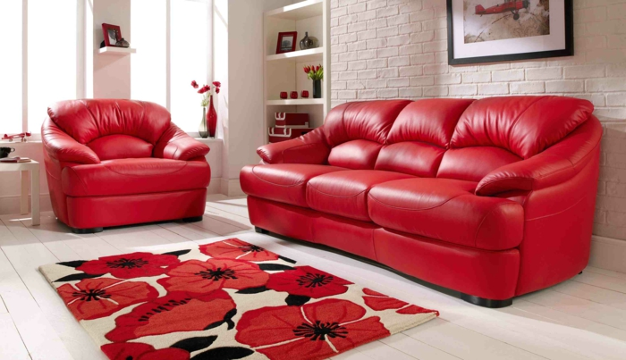 leather sofa red red sofa the red sofa