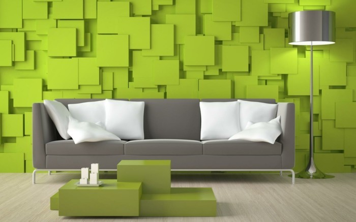 wallpaper 3d green design