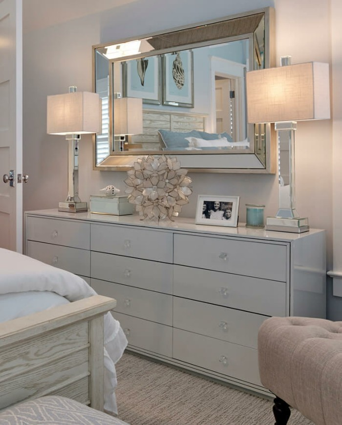 a noble mirror in the bedroom