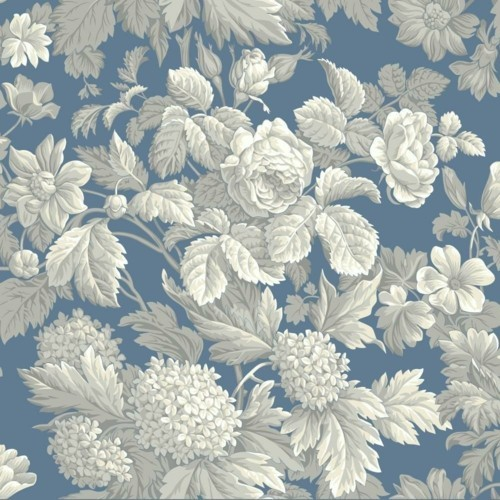 patterned wallpaper bright flowers on a white background