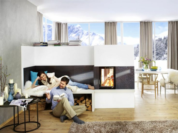 modern tiled stoves brunner cool living room fireplace and tiled stoves with wooden bench
