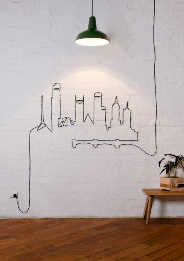 do it yourself decoration cable wall decoration