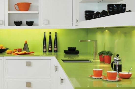 color ideas for kitchen green fresh kitchen back wall