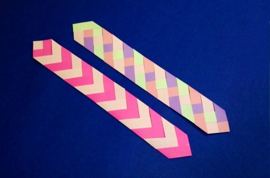 colorful ties bookmark tinker