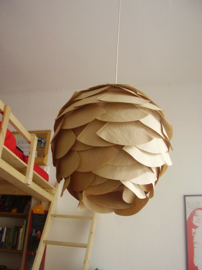 paper lights hanging lamp coffee filter