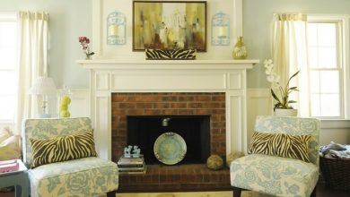 Photo of Fireplace decoration for a stylish room appearance