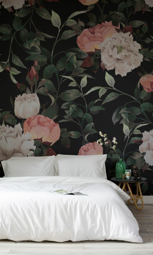 floral wallpaper wall design color design