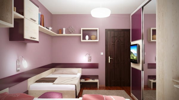 design of youth room inspiring ideas purple