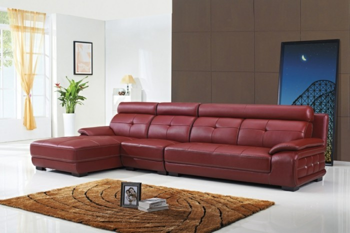brown leather sofa in scene 23