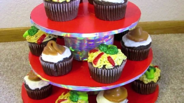 Homemade cupcake cake stand suitable for everyday