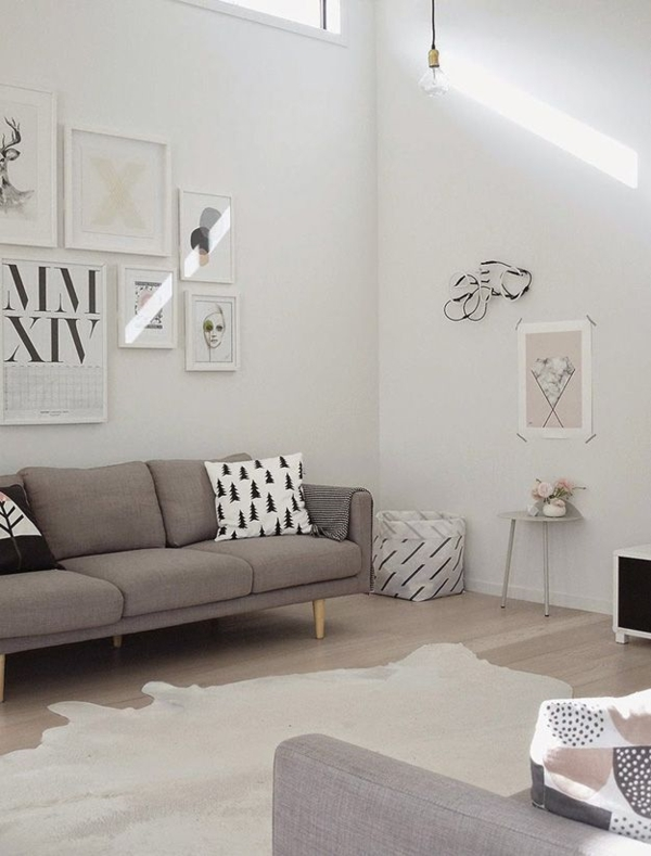 interior design ideas gray sofa