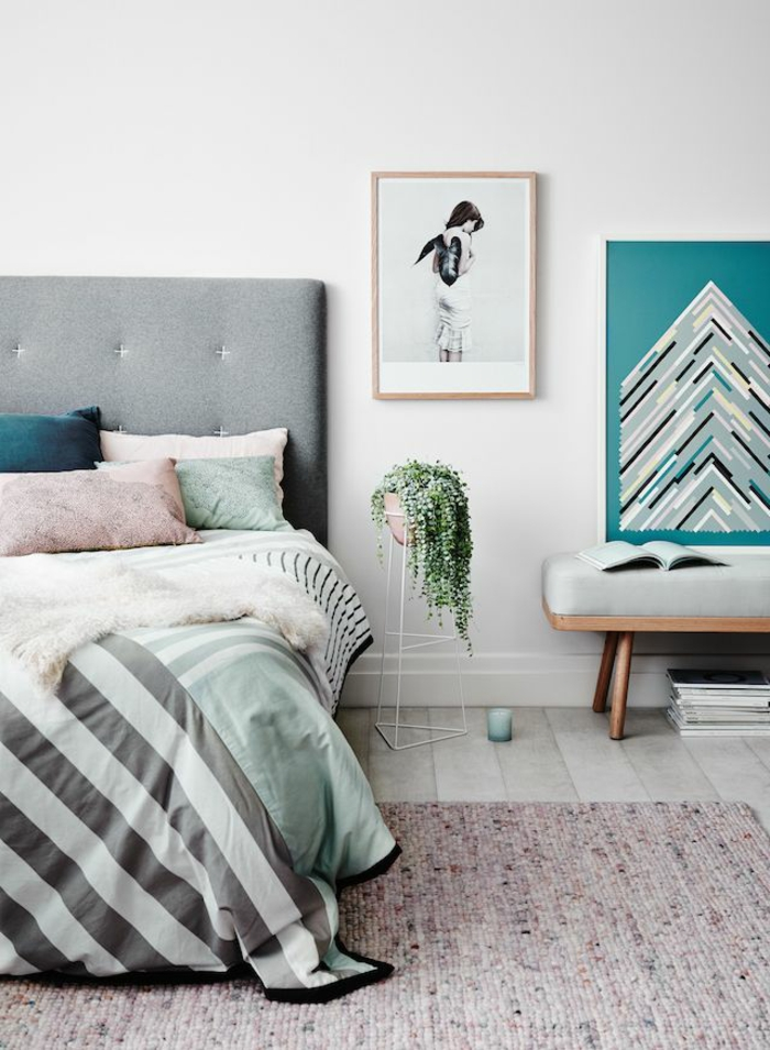 beautiful houseplants decorate bedroom with potted plants