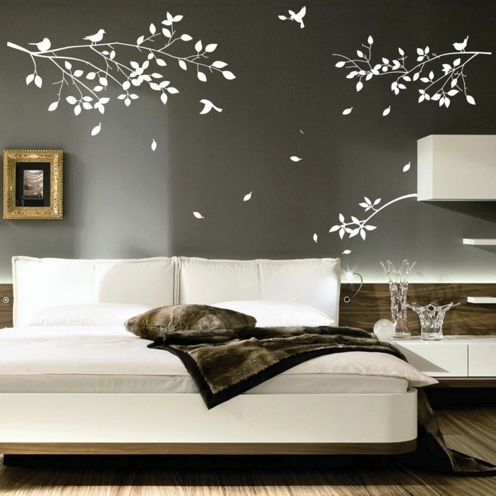 walls decorate deco living room wall stickers branches birds