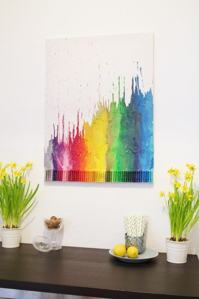 Make pastel pictures wall decoration yourself