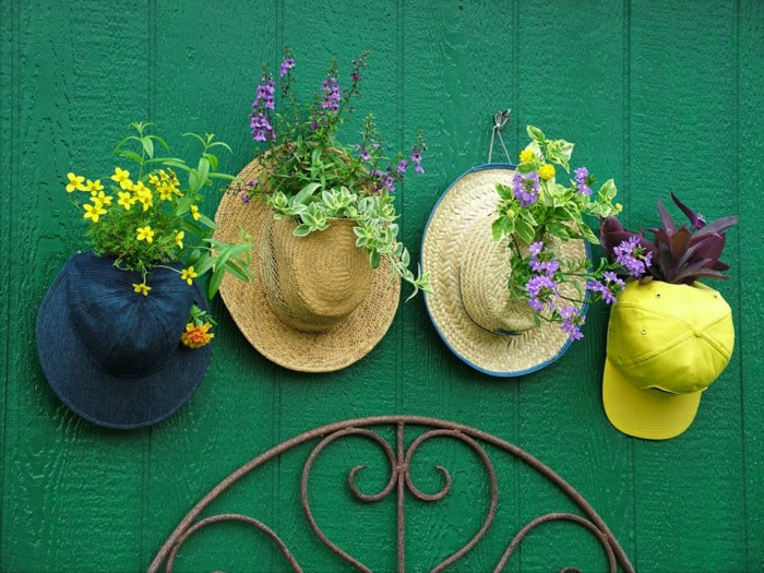 fancy garden decoration itself make deco ideas with hats
