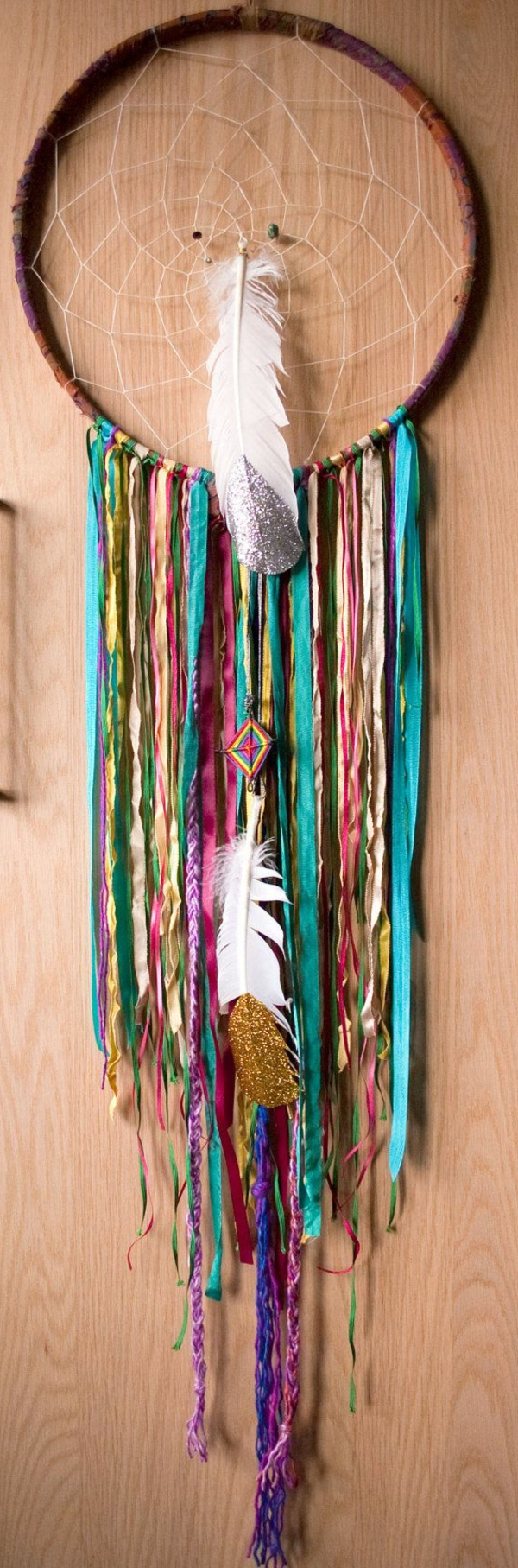 dreamcatcher yourself making feathers silver gold