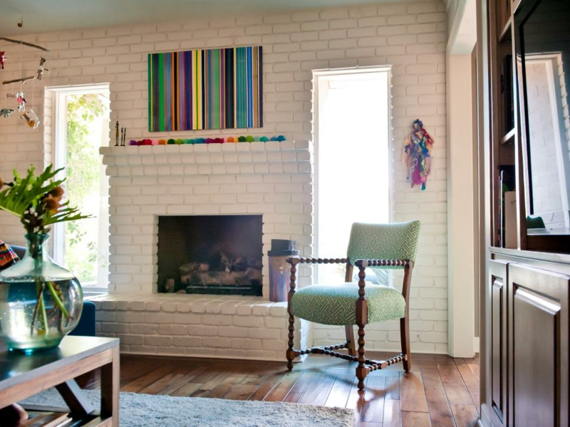 Home Decor Living Room Wall Decoration Rainbow Colors Fireplace Deco