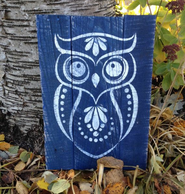 diy modern canvas pictures blue owls
