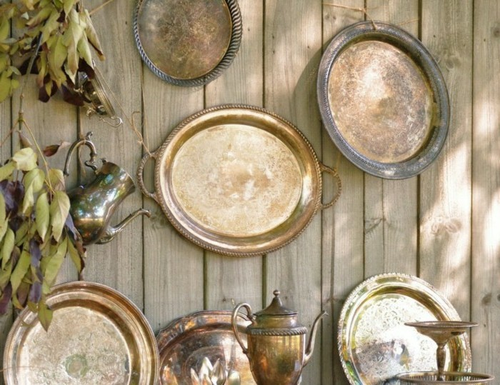 unusual garden decoration itself make old objects reuse