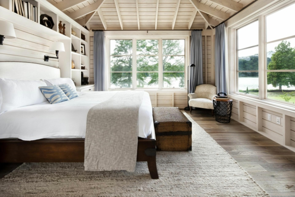 bright wood ceiling paneling wood bedroom