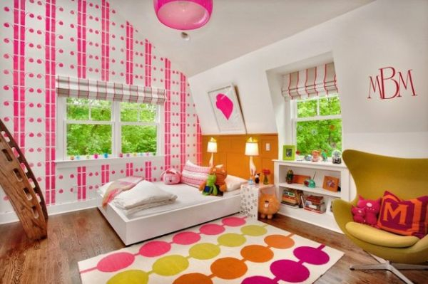 colorful childrens room bevel