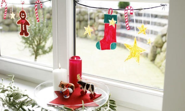 painted window decoration for children's ideas