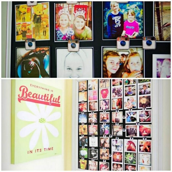 make a photo wall yourself wanddeko ideas