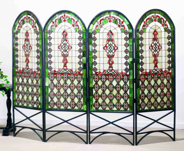 folding wall room divider paravent room divider vintage ecclesiastical affairs