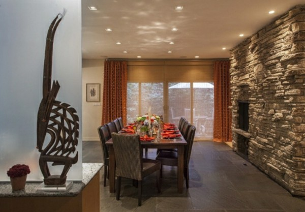 stone walls decorating art as a decoration