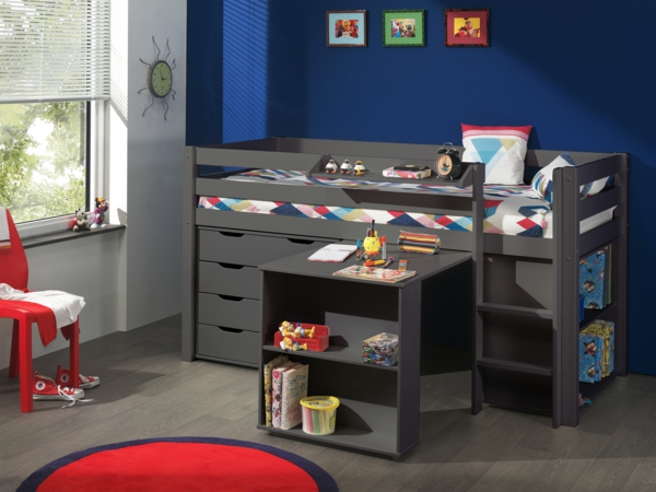 Small children's room set up cot high bed PICOHSBUBIKSD15