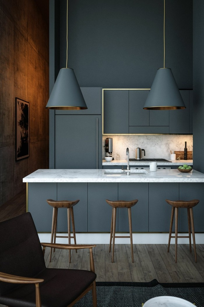 combination of wood and gray color palette