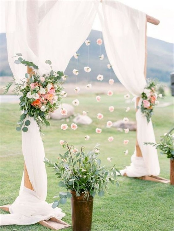 great sheer curtains wedding outside