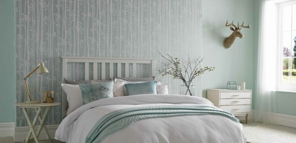 relaxed style bedroom wallpaper